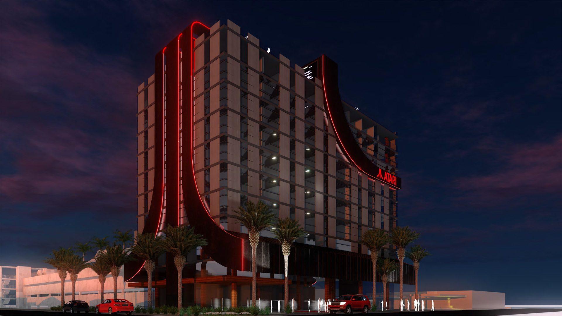 Concepto de los futuros hoteles de Atari